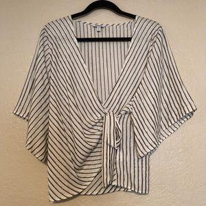 Express Striped Kimono Blouse